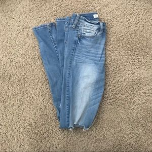 A&F High Waisted Ripped Jeans